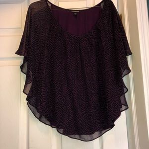Express Purple and Black Blouse